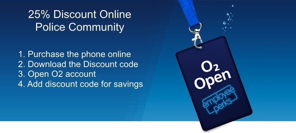 how to get o2 police discount