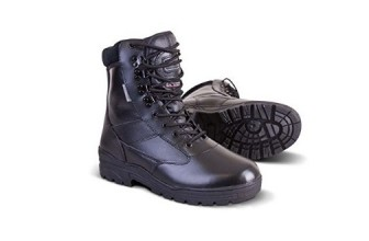 FULL LEATHER POLICE PATROL BOOTS