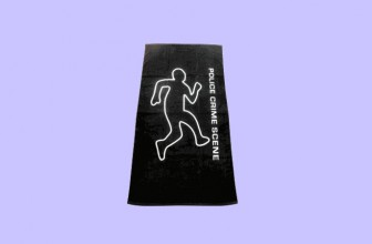 POLICE CRIME SCENE BEACH TOWEL!