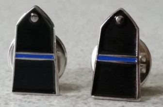 "POLICE EPAULETTE ""THIN BLUE LINE"" TIE PIN – BUY ONE, GET ONE HALF PRICE"