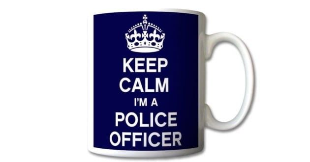 KEEP CALM - POLICE OFFICER MUG - Police Discount Offers