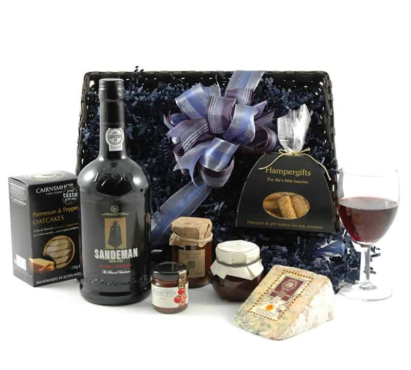 cheese and port hamper