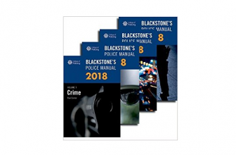 Discount on Blackstone's Police Manuals 2018