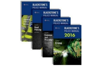 Discount on Blackstone's Police Manuals 2016