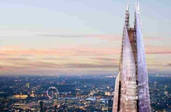 VIEW FROM THE SHARD AND MEAL FOR 2